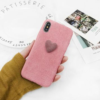 Phone Case For iPhone X 6 6S Plus 7 7Plus 8 8Plus Fashion Cute Furry Hard PC Back Cover