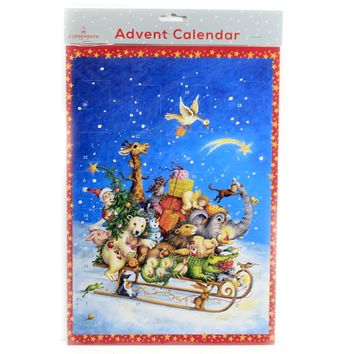 Christmas WHIZZING THROUGH THE SNOW Paper Advent Calendar Germany Acl8975