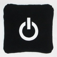 Power Black Pillow