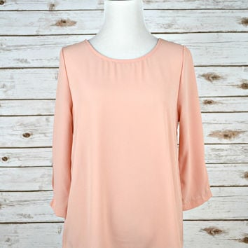 EVERLY: Layered Back Blouse - Blush