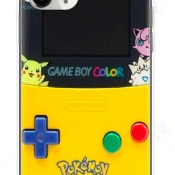 Game Boy in Color Style Silicone Protective Iphone Case