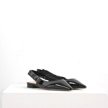 Pointed Leather Flats