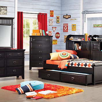 Mission Black 6 Pc Full Daybed Bedroom