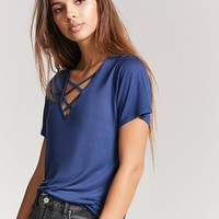 V-Neck Crisscross Top