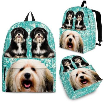 Havanese Dog Print Backpack-Express Shipping