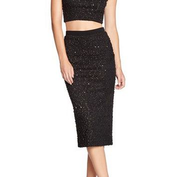 Dress the Population 'Paloma' Sequin Knit Crop Top | Nordstrom