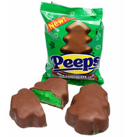Peeps Milk Chocolate Covered Marshmallow Christmas Trees: 24-Piece Box