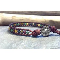 Leather Wrap Bracelet, Skinny Bracelet