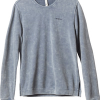RVCA Embroidered Acid Wash Sweatshirt | RVCA