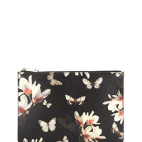 Givenchy Medium Leather Zip Pouch, Magnolia Print