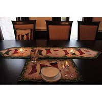 Tache 8 Piece Hang My Stocking Upon the Fireplace Table Set (DB12910PM-8PCST)