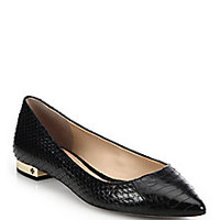 Tory Burch - Bedford Snakeskin Flats - Saks Fifth Avenue Mobile