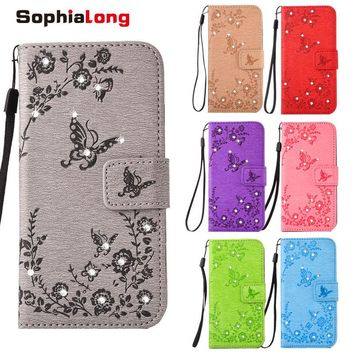For iPhone X 7 8 Plus Case Rhinestone Case for iPhone 6 6S Plus Fashion Wallet Case for iPhone 10 SE 5 S Cover Bling Diamond Bag