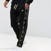Hype Skinny Joggers In Black With Poppers at asos.com