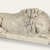 Corcoran Resting Lion Statue after Antonio Canova - 740M