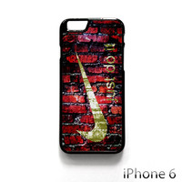 nike just do it on wall for Iphone 4/4S Iphone 5/5S/5C Iphone 6/6S/6S Plus/6 Plus Phone case