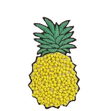 Bead-embellished pineapple brooch | HUDA AL NUAIMI | MATCHESFASHION.COM US