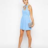 ASOS PETITE Exclusive Lace Trim Strappy Halter