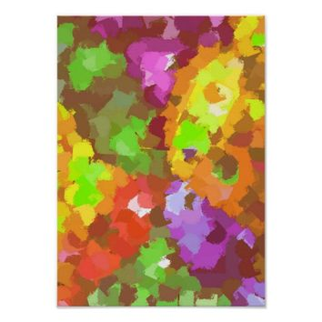 Colorful Abstract Paint Strokes Original Art Poster