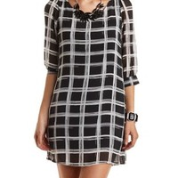 Caged Back Shift Dress by Charlotte Russe