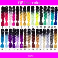 Hair Extension Crochet Braid Ombre expression Two Tone GREY OMBRE JUMBO Pre Braiding Hair  Synthetic Box Kanekalon Braiding Hair