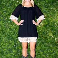 Southern Bell Dress Black
