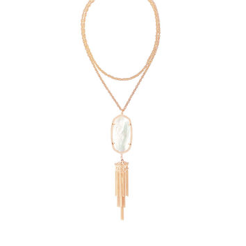Kendra Scott Rayne Ivory Mother of Pearl Rose Gold