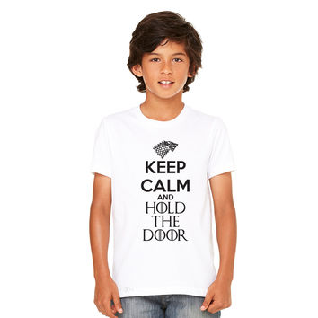 Zexpa Apparel™ Keep Calm and Hold The Door - Hodor  Youth T-shirt GOT Tee