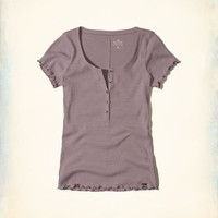 Girls Must-Have Ribbed Henley | Girls New Arrivals | HollisterCo.com