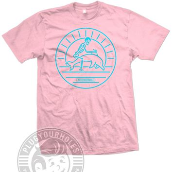 Dolphin Rodeo - Pink Unisex Tee