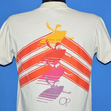 80s OP Ocean Pacific Surfboard Rainbow t-shirt Medium