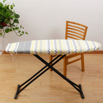 100% cotten european style ironing board cover blue/yellow stripe anti-heat free shipping