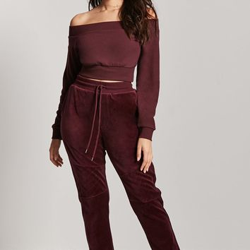 French Terry Off-the-Shoulder Top