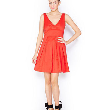 BOWTASTIC LOW BACK DRESS RED