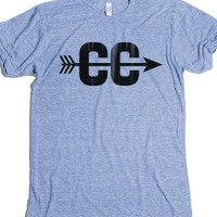 Cross Country-Unisex Athletic Blue T-Shirt