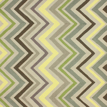 Rustic Wave 100% Wool Area Rug in Sunflower design by NuLoom