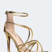 Strappy Metallic Sandal