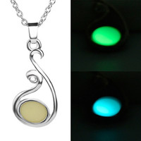 Gift New Arrival Shiny Stylish Jewelry Hot Sale Water Droplets Noctilucent Pendant Gifts Necklace [8026070855]