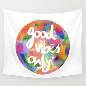 Good Vibes Only Wall Tapestry by Mariam Tronchoni