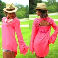 Got Your Back Top in Coral