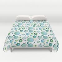 Bubbles Watercolor Duvet Cover by Doucette Designs