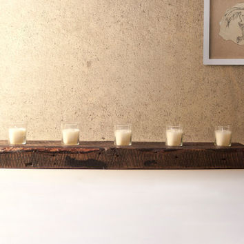 FREE SHIPPING - Reclaimed Wood Votive Candle Holder
