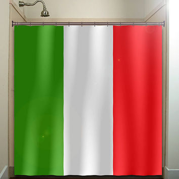 Italy flag shower curtain bathroom decor from for Bathroom accessories made in italy