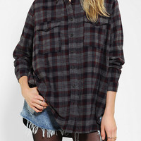 Silence + Noise Oversized Flannel Shirt