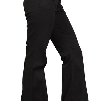 Raven Riley Hipster Trousers Black