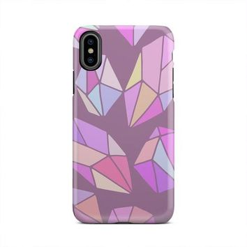 Rainbow Multicolored Gems Diamond iPhone X Case