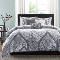 Home Essence Adela 6-Piece Duvet Cover Bedding Set, Gray - Walmart.com