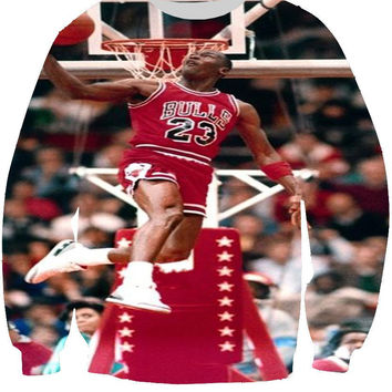 Its Too Easy All Over Print Michael Jordan MJ Chicago Bulls Air Jordan 23 Jordan Jersey Crew Neck Sweatshirt