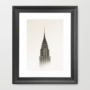 Chrysler Building - NYC Framed Art Print by Nicklas Gustafsson