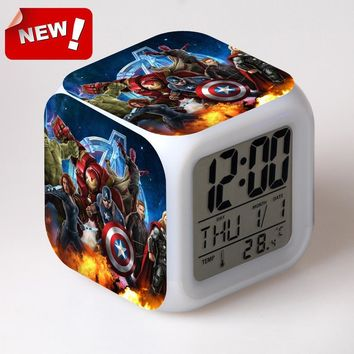 USA captain 2 peripheral products the Avengers America captain multifunctional LED night light touch edition alarm clock